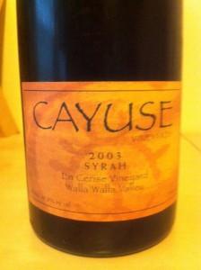 Cayuse 2003 Syrah