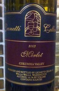 2003 Leonetti Merlot